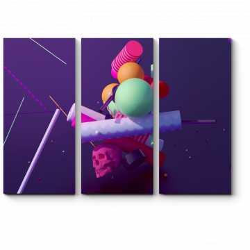 Модульная картина Геометрические фигуры