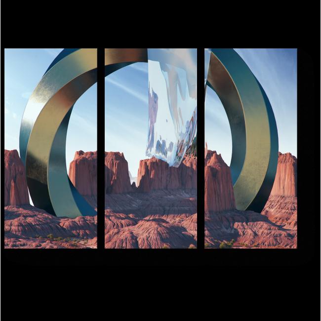 Модульная картина Межгалактический портал