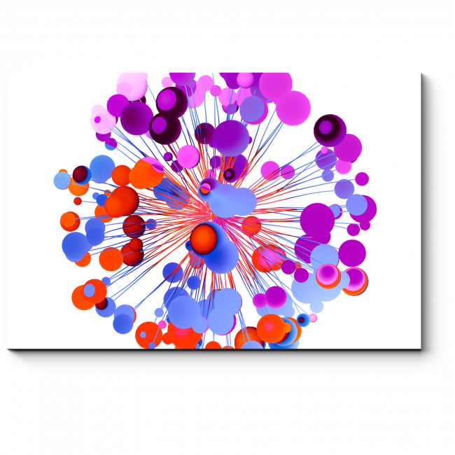 Модульная картина Фейерверк