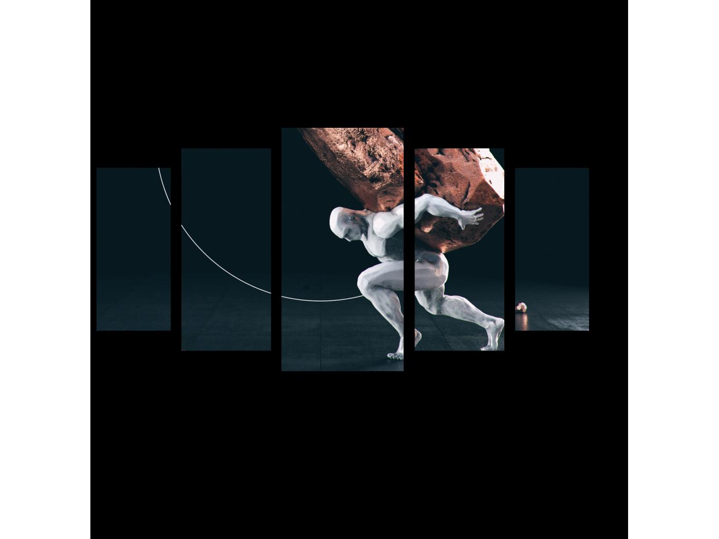 Модульная картина Выносливость (100x55) фото