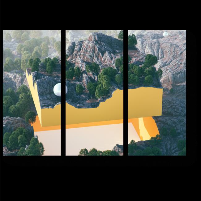 Модульная картина Поверхность Земли