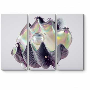 Модульная картина Перламутровая жемчужина