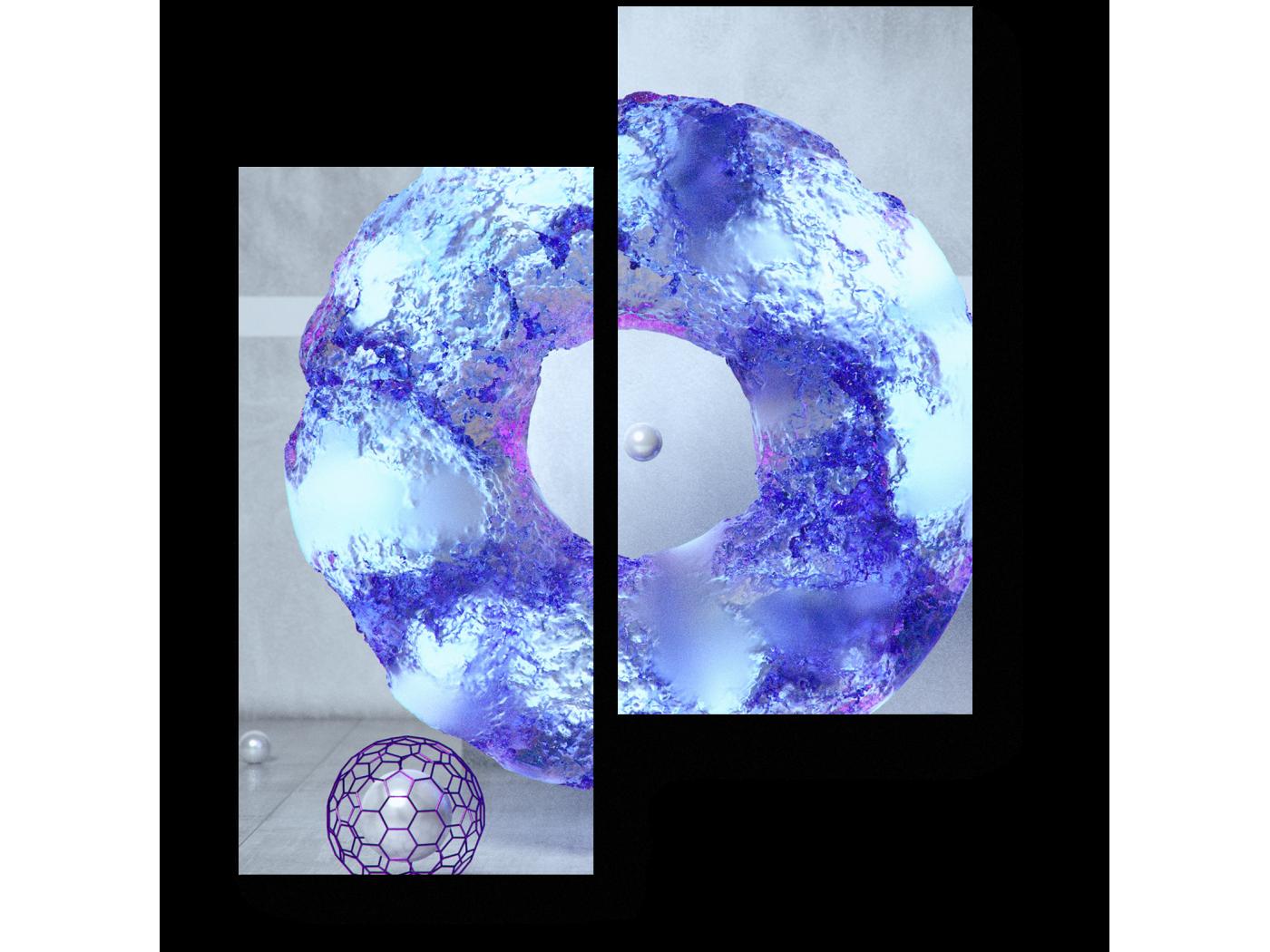Модульная картина Небесный цвет (40x50) фото