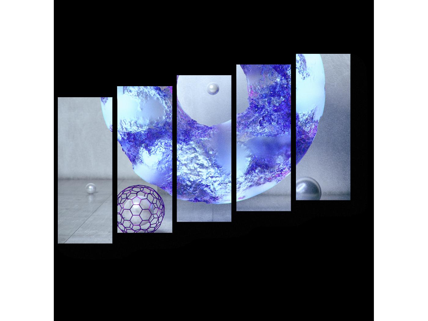 Модульная картина Небесный цвет (90x63) фото