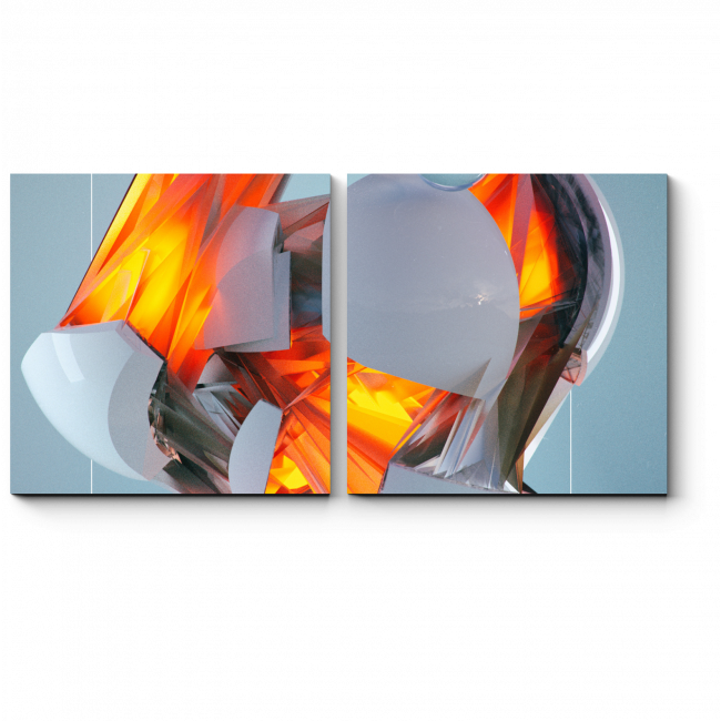 Модульная картина Магма