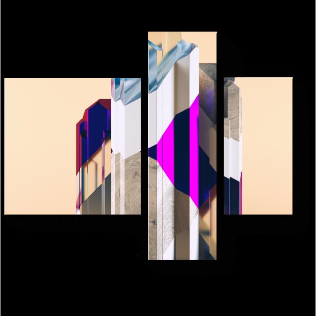 Модульная картина Цвета по вертикали