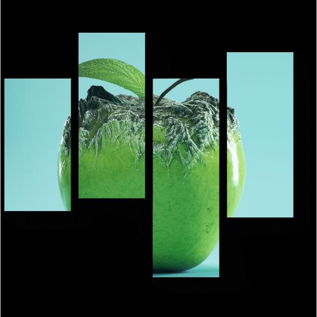 Модульная картина Заледеневшее яблоко
