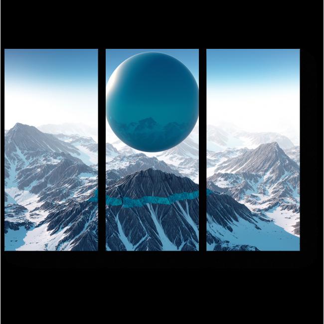 Модульная картина Небесный шар
