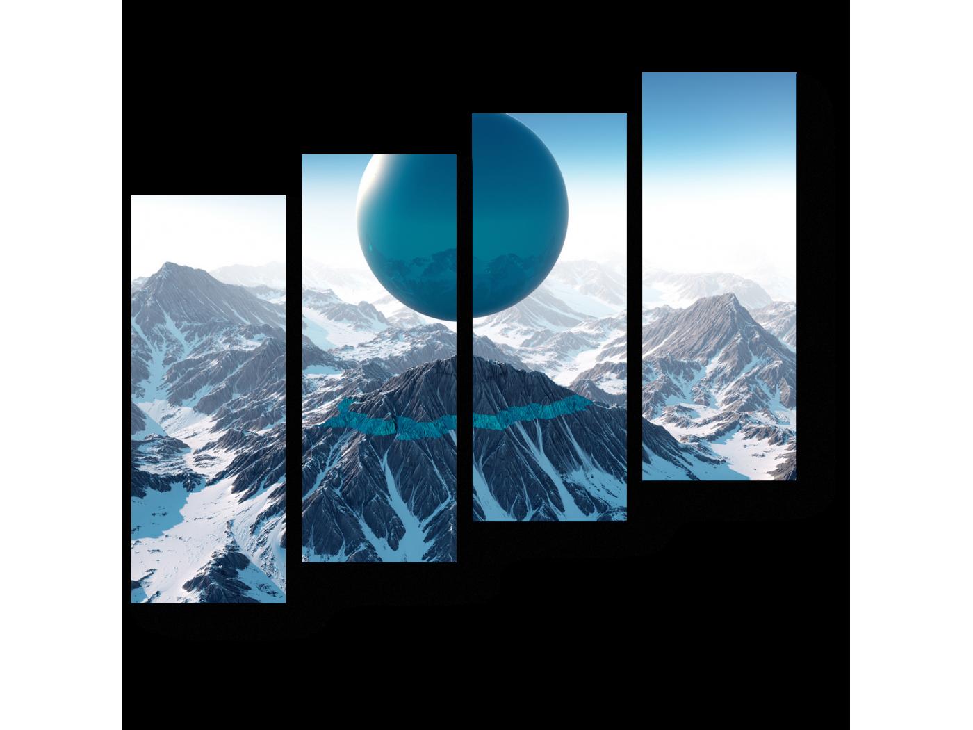Модульная картина Небесный шар (80x69) фото