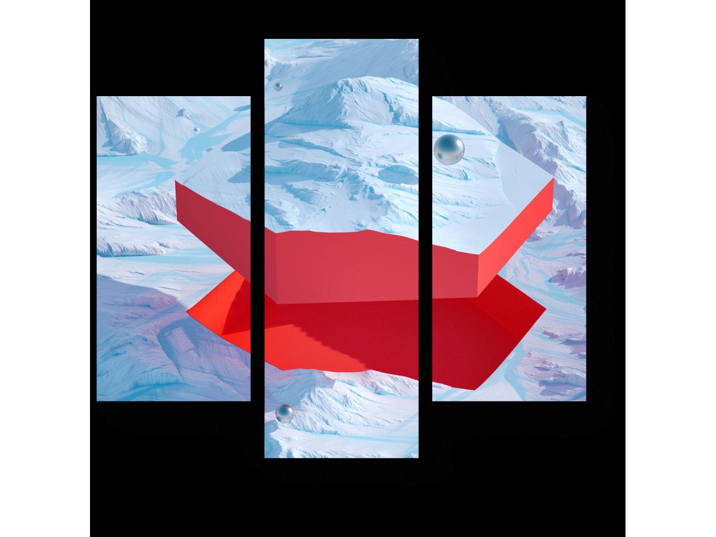Модульная картина Графическое отслоение (60x54) фото