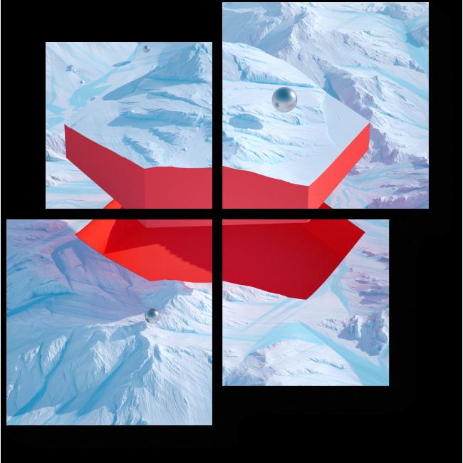 Модульная картина Графическое отслоение