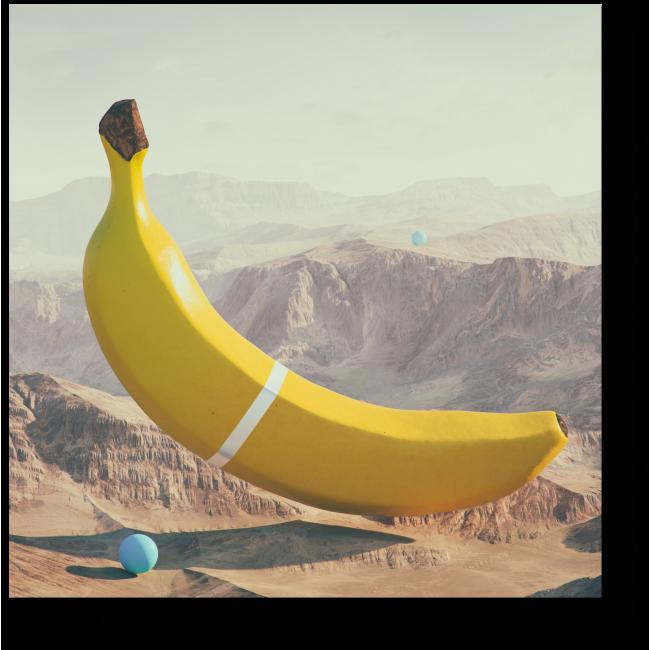 Модульная картина Гигантский банан