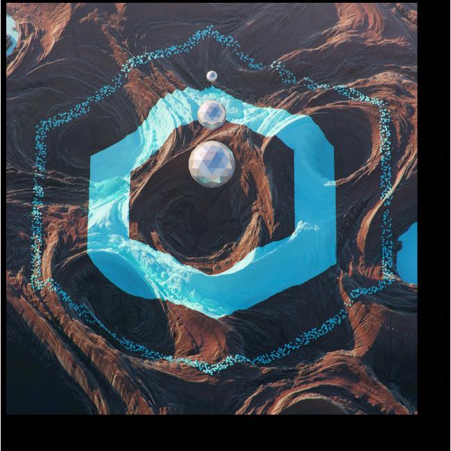 Модульная картина Послание с космоса