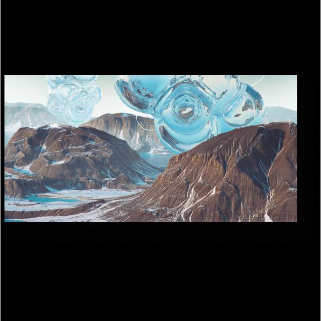 Модульная картина Инопланетные ледяные пузыри