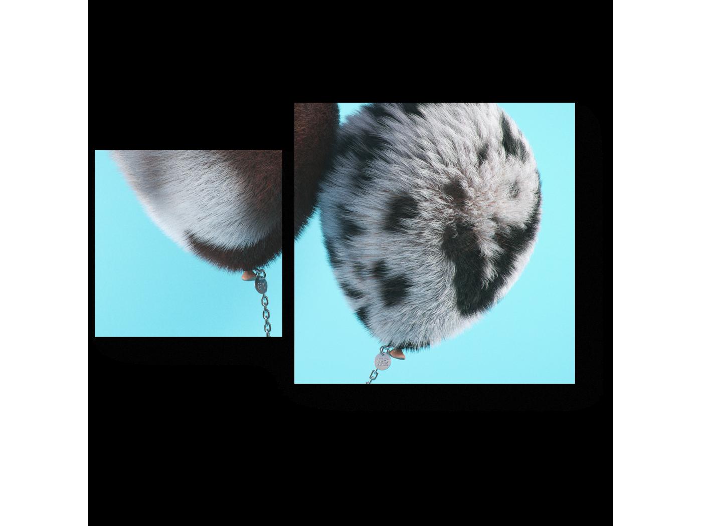 Модульная картина Меховые надувные шарики (50x30) фото