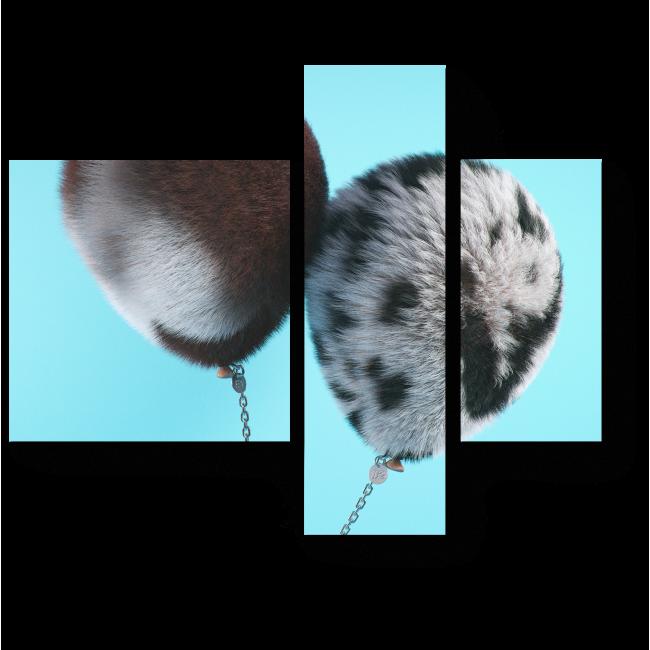 Модульная картина Меховые надувные шарики