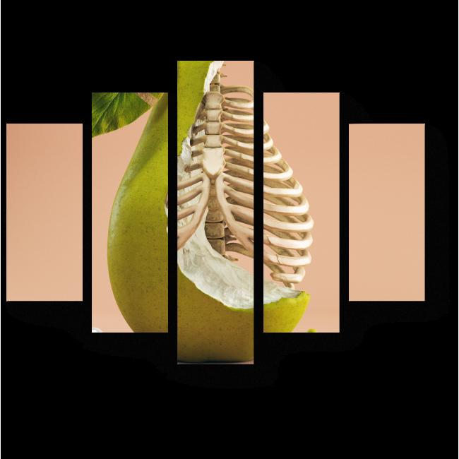 Модульная картина Обглоданная груша
