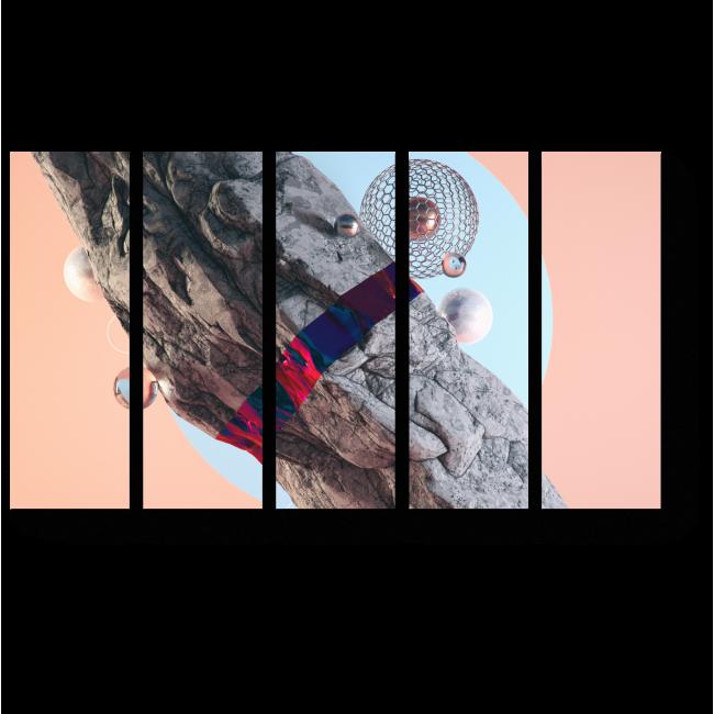 Модульная картина Астероид
