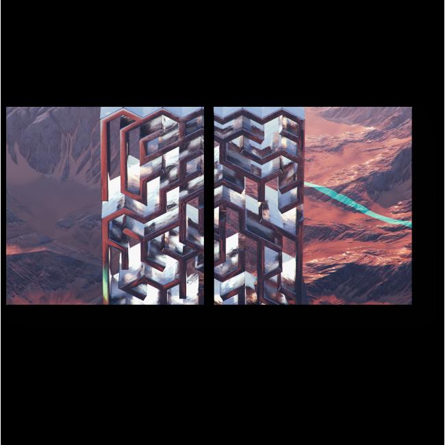 Модульная картина Вертикальный лабиринт