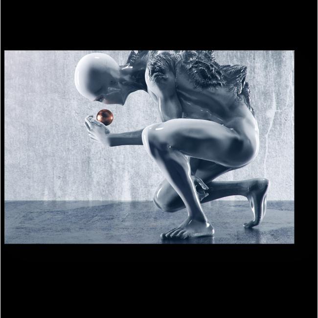 Модульная картина Человек-ртуть