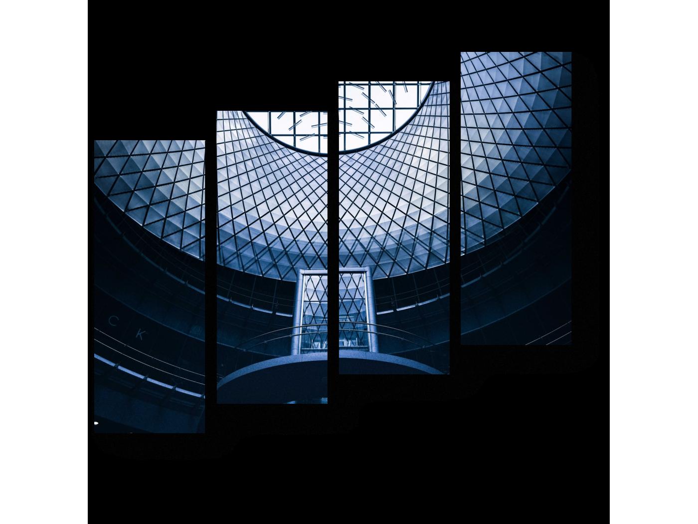 Модульная картина Современная конструкция (80x69) фото