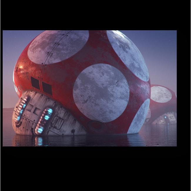 Модульная картина Грибы будущего