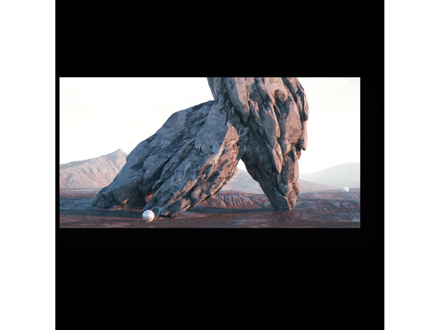Модульная картина Обломки скал (40x20) фото