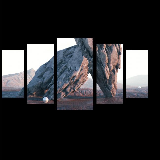 Модульная картина Обломки скал