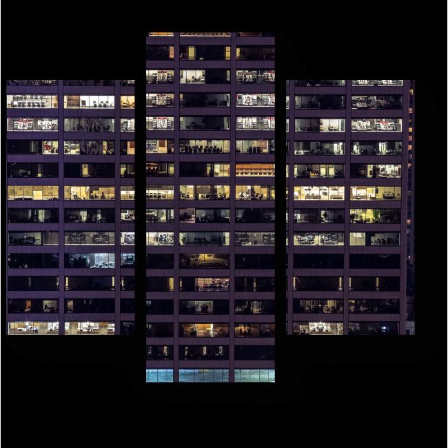 Модульная картина Внутри небоскреба