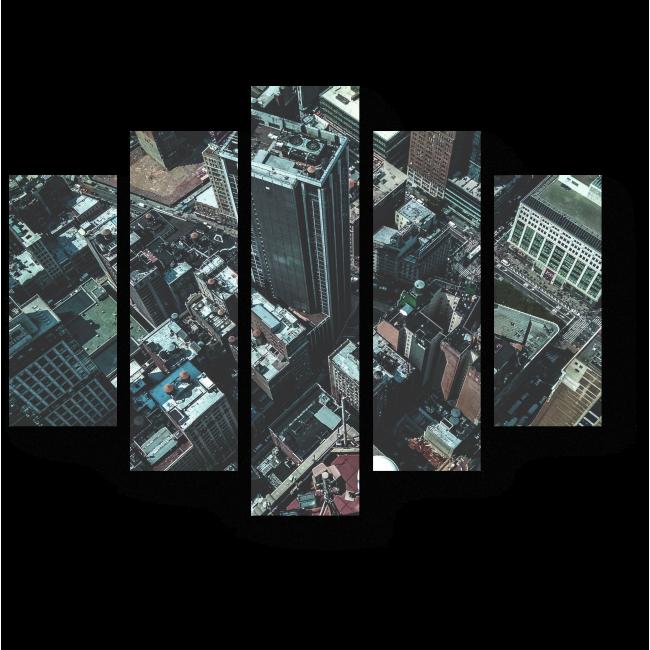 Модульная картина Пролетая над Нью-Йорком
