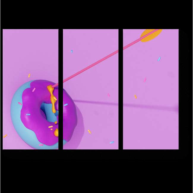 Модульная картина Раненый пончик