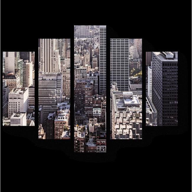 Модульная картина Городская теснота