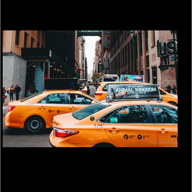Модульная картина Такси в работе