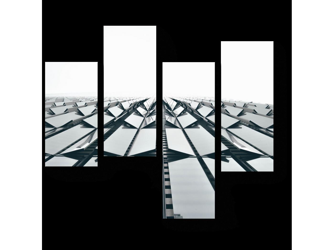Модульная картина Часть здания (64x60) фото