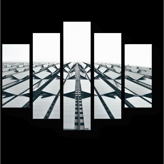 Модульная картина Часть здания