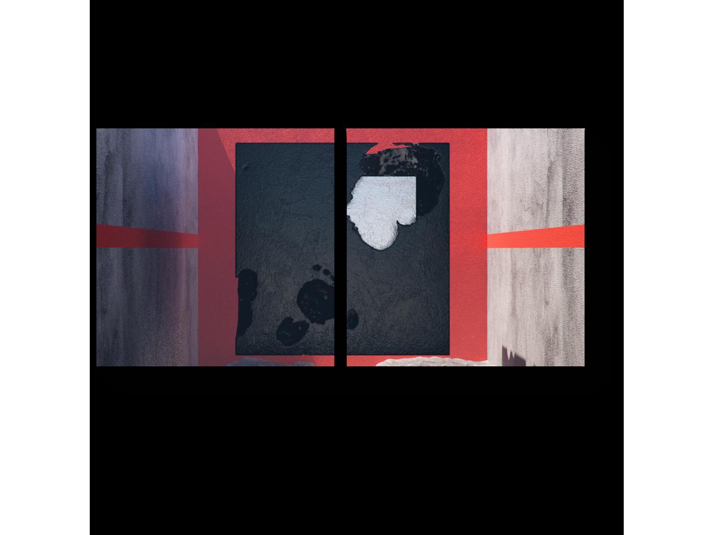 Модульная картина Между стен (40x20) фото