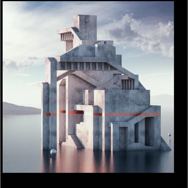 Модульная картина Воздушный замок