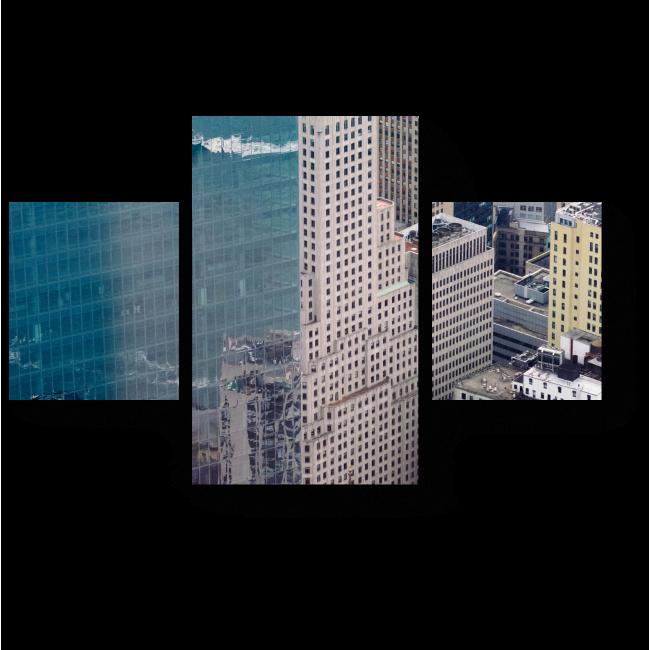 Модульная картина Синева в отражении