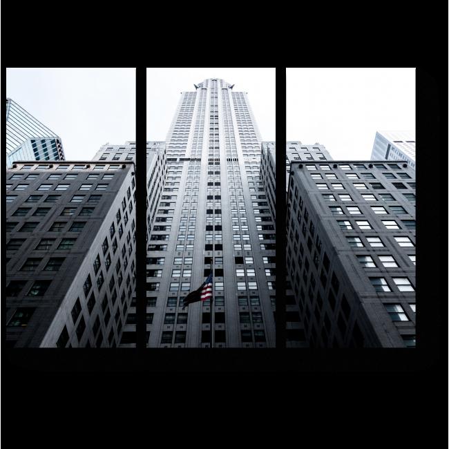 Модульная картина Могущественное здание