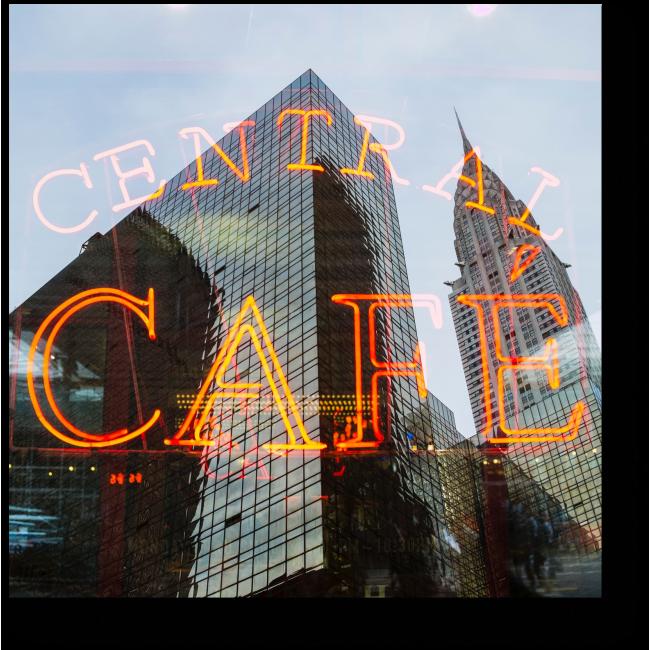 Модульная картина Центральная кофейня
