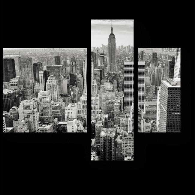 Модульная картина Серый город