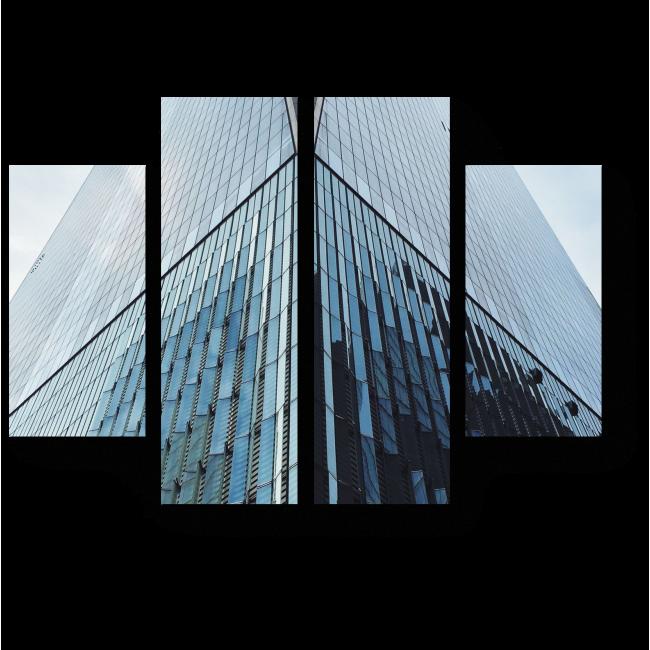 Модульная картина Зеркальное здание