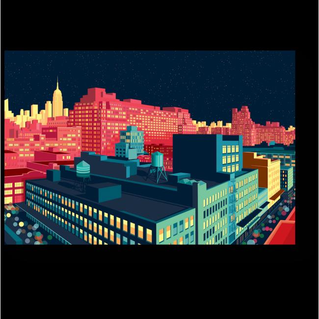 Модульная картина Придуманные краски