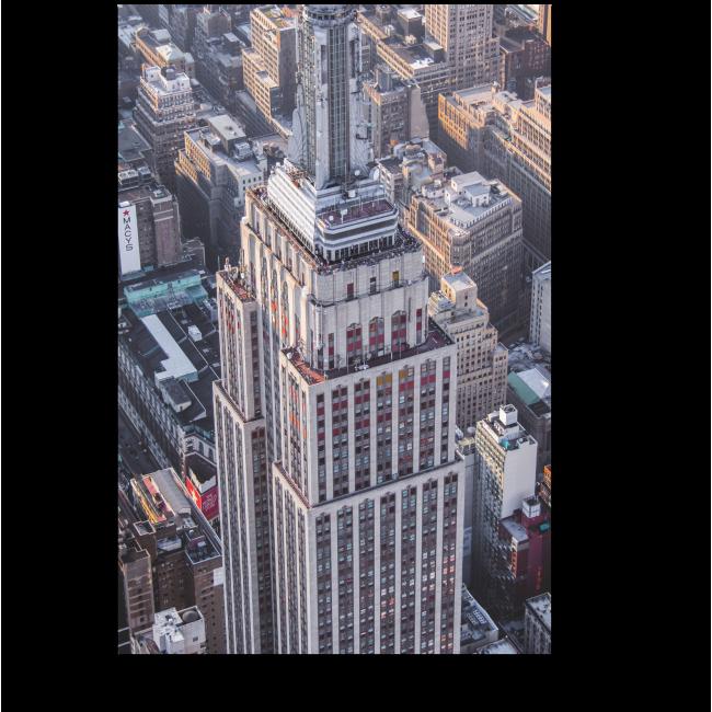 Модульная картина Нью-Йорк с высоты птичьего полета