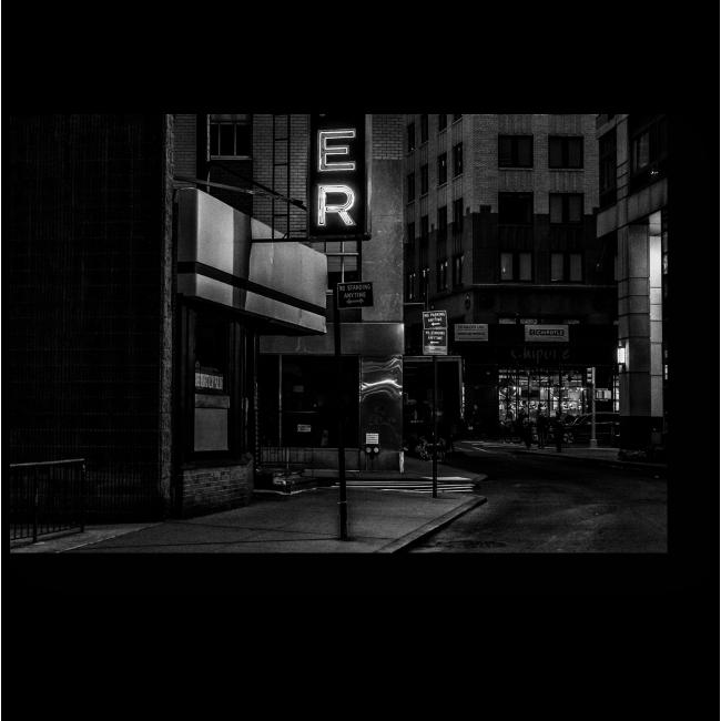 Модульная картина Ночная улица