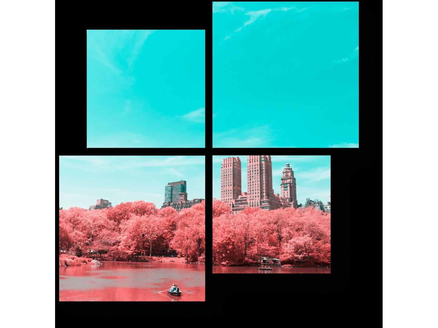 Модульная картина Волшебный пейзаж (50x50) фото