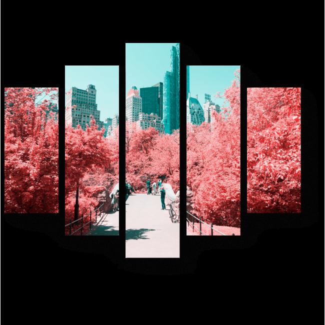 Модульная картина Сказочный мост Нью-Йорка
