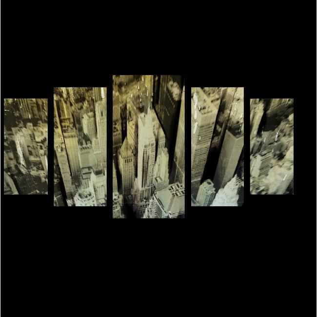 Модульная картина Над небоскребами