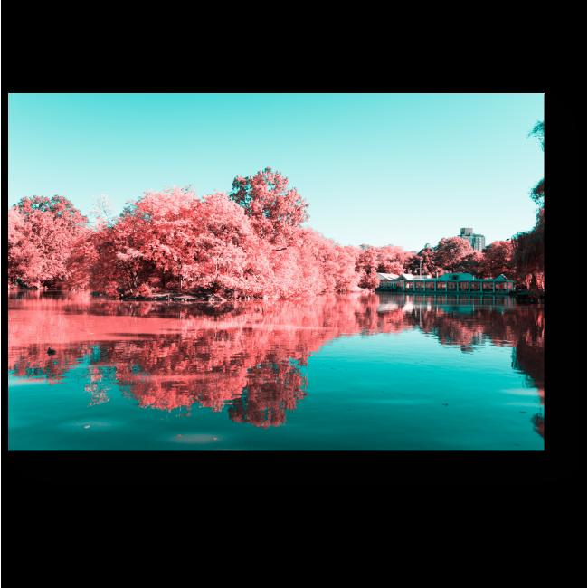 Модульная картина Озеро вдохновений