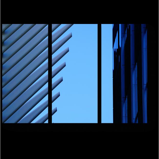 Модульная картина Оттенки синего
